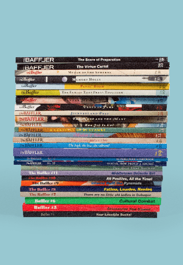 A stack of Baffler Magazines