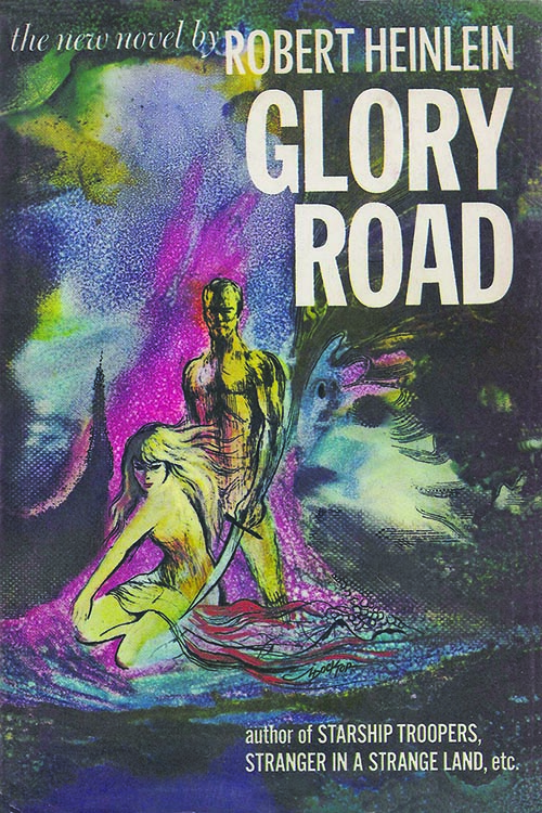 "Cover illustration of Robert Heinlein's ""Glory Road."""