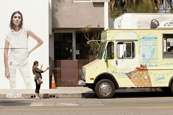Vegan cone, anyone? This food truck featuring artisanal ice creams, parked on Abbot Kinney, is routinely busy.