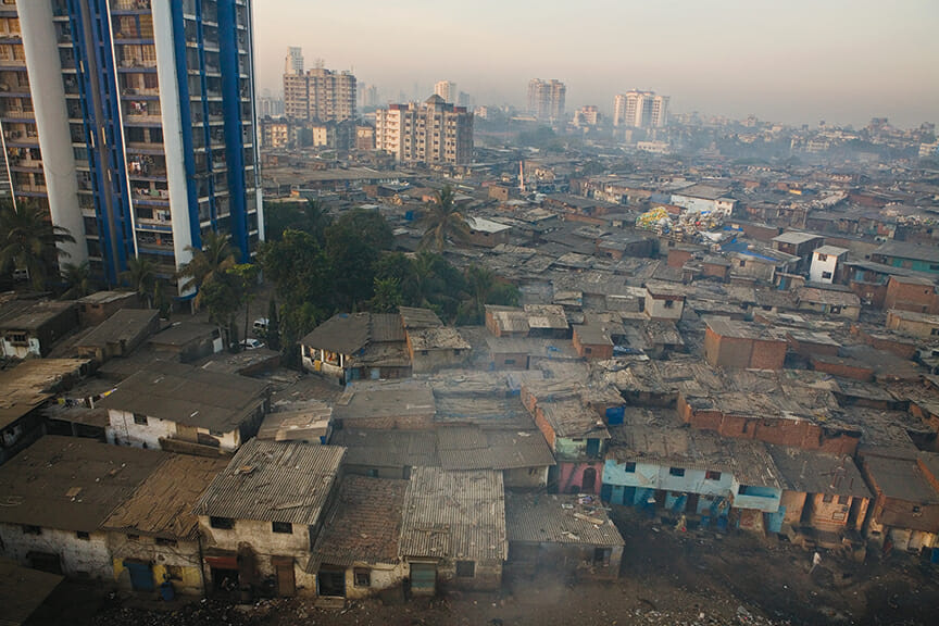 Mumbai's Dharavi, the most crowded slum in India--six hundred thousand people in five hundred acres--occupies some of the most valuable real estate in the world.