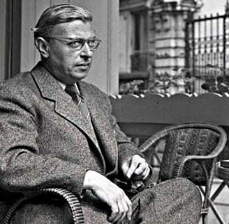 Sartre sees what's going on here. / Photo via the public domain.