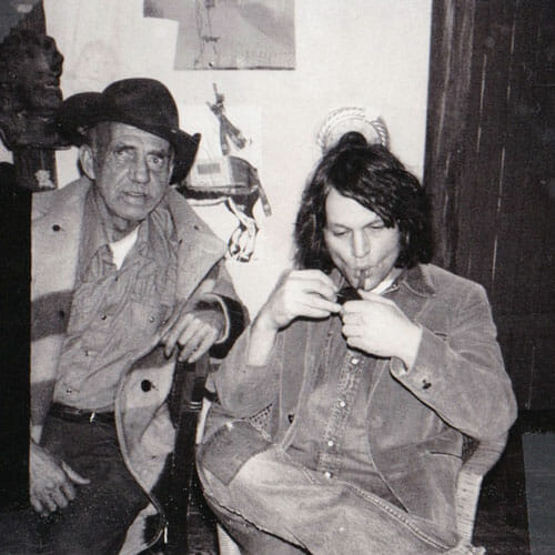 Joe with Gypsy Joe Hess, to whom he  dedicated one of his later essays. Boulder,  Colorado, 1975. Courtesy of Barbara Dickinson.