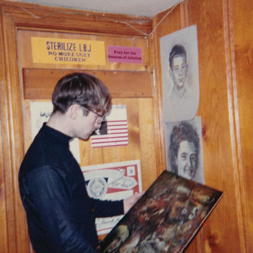 Joe Bageant in Winchester in 1966: a twenty-year-old Navy vet and LSD enthusiast. Courtesy of Barbara Dickinson.