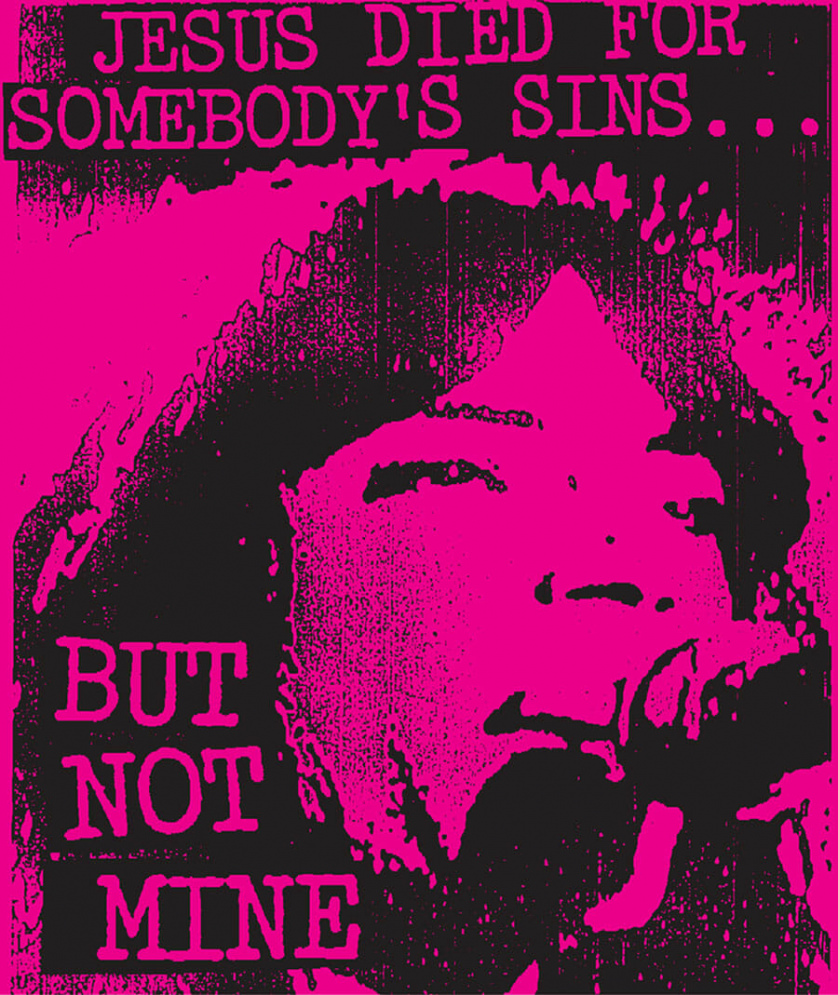 Classic punk poster by Art Chantry. A woman sings into a microphone.