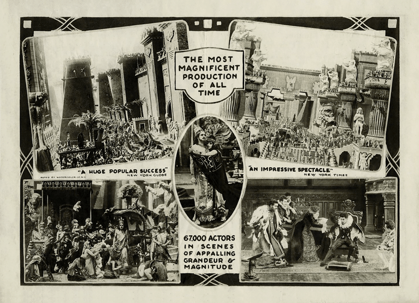 Flyer for the movie Intolerance.