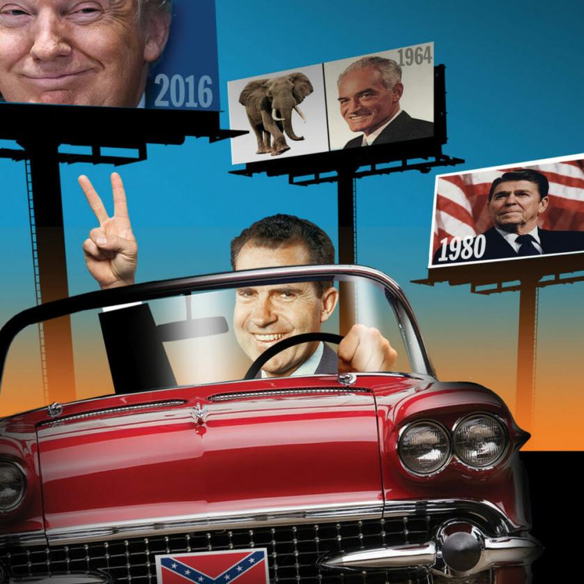 Nixon, Trump, Goldwater, and Reagan—together.