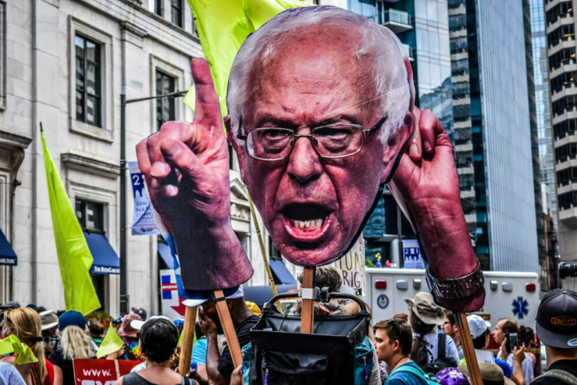 According to Max B. Sawicky, the left won't win by vilifying Sanders's recent comments on Trump. / Paulann Egelhoff