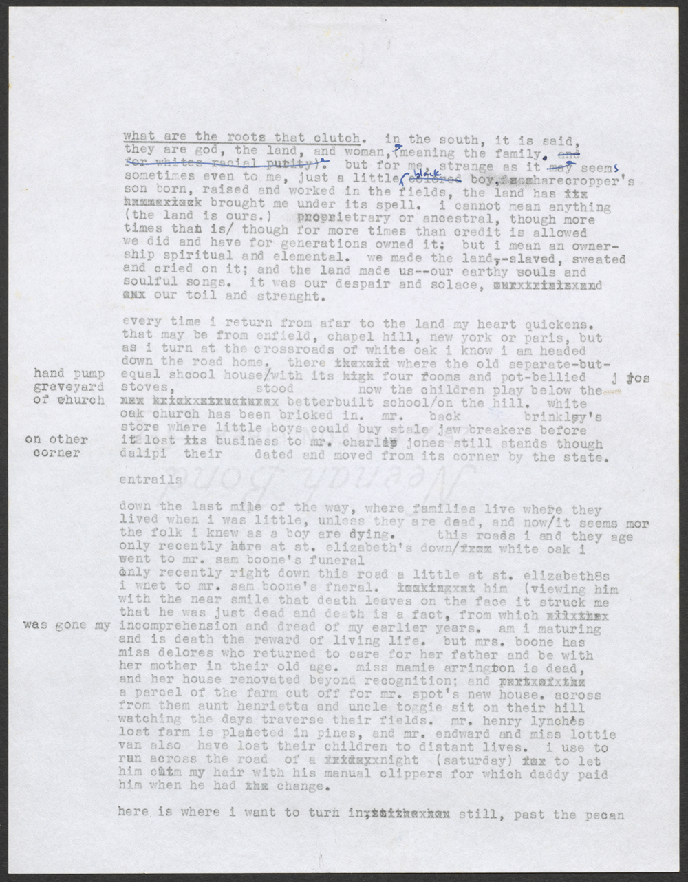 A typed page of an essay.