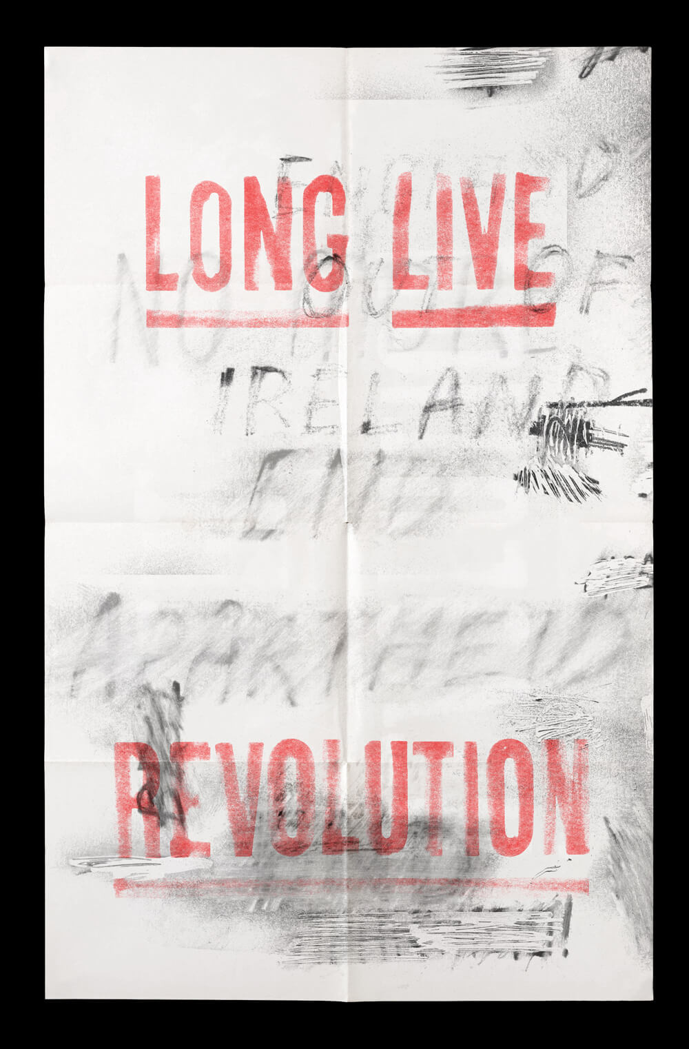 "A flyer that reads ""Long Live Revolution."""